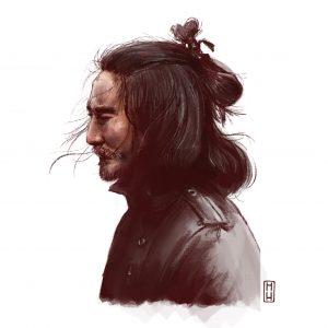 dibujo samurai.sobre mÍ