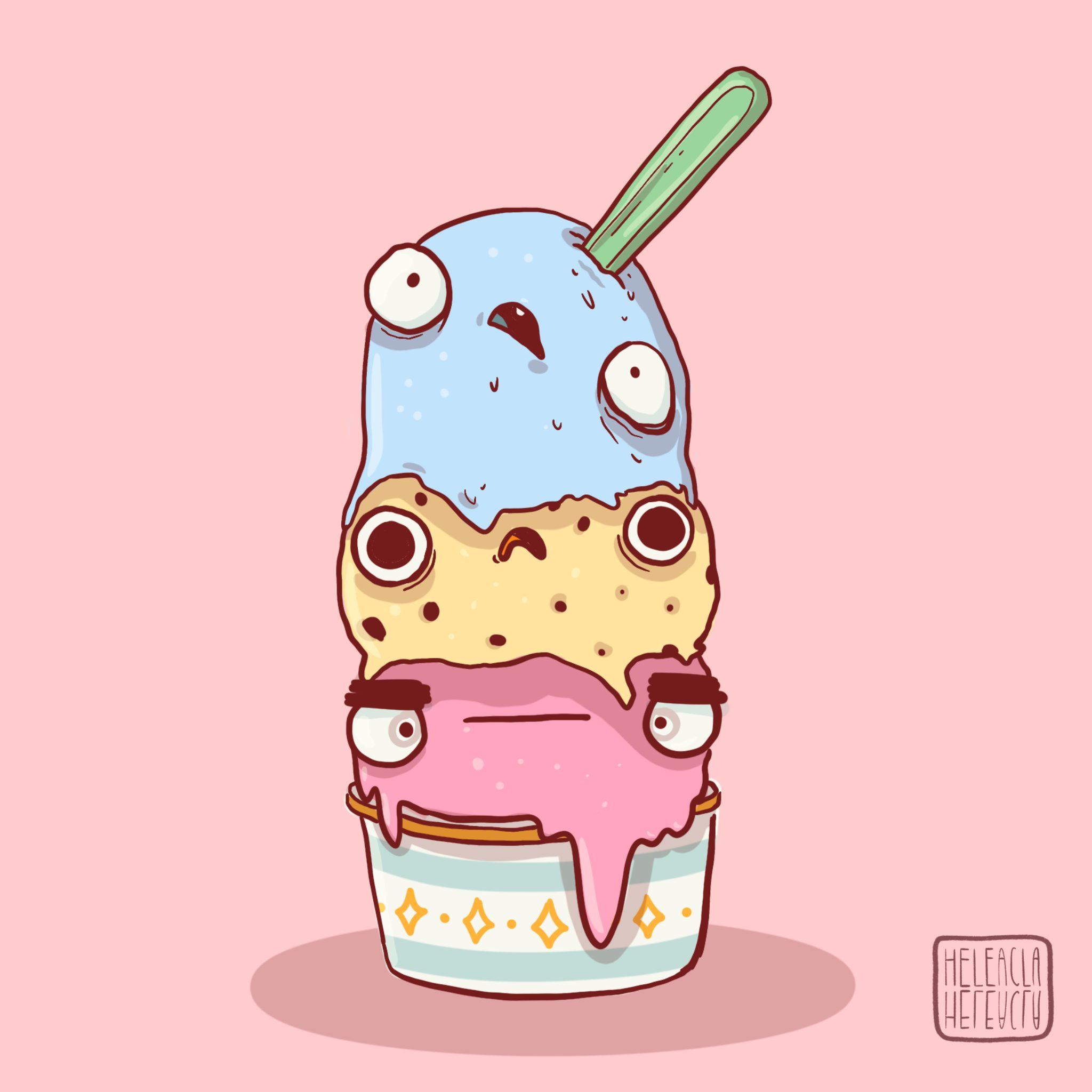 dibujo helados