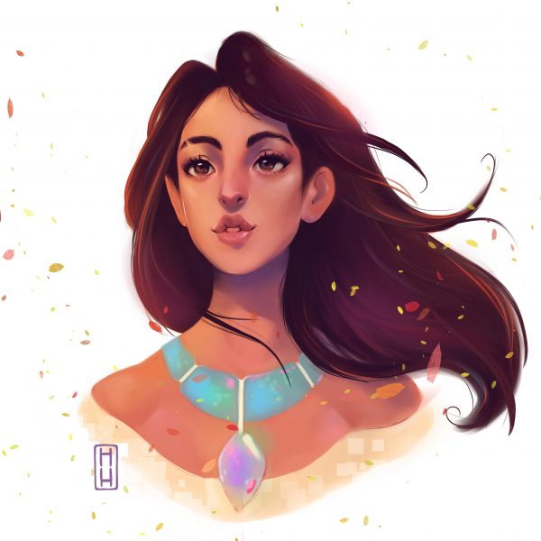 Ilustración Pocahontas